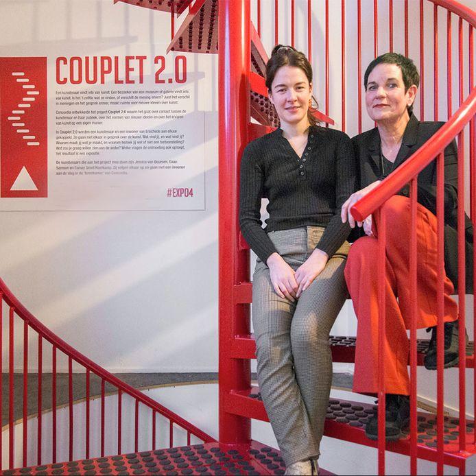 Marjolein Smits (rechts) werkte samen met kunstenaar Esmay Groot Koerkamp.