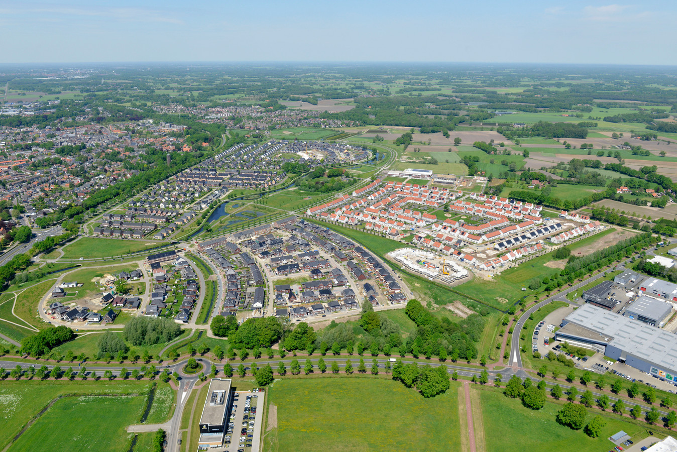 Nieuwbouwwijk De Bornsche Maten, een waarschijnlijke reden voor de bewonersgroei van de gemeente Borne.