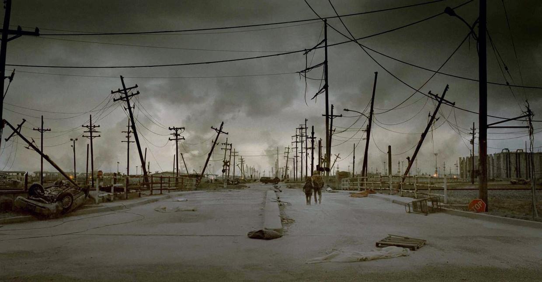 The Road, gebaseerd op Cormac McCarthy's inktzwarte toekomstroman. Beeld