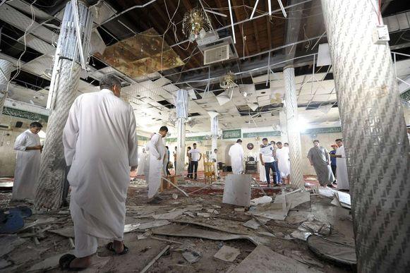 De getroffen Moskee in Qatif