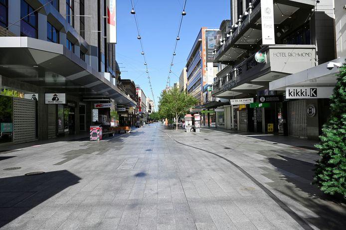 Lockdown in Adelaide, de hoofdstad van de staat South Australia vorig jaar. Archiefbeeld.