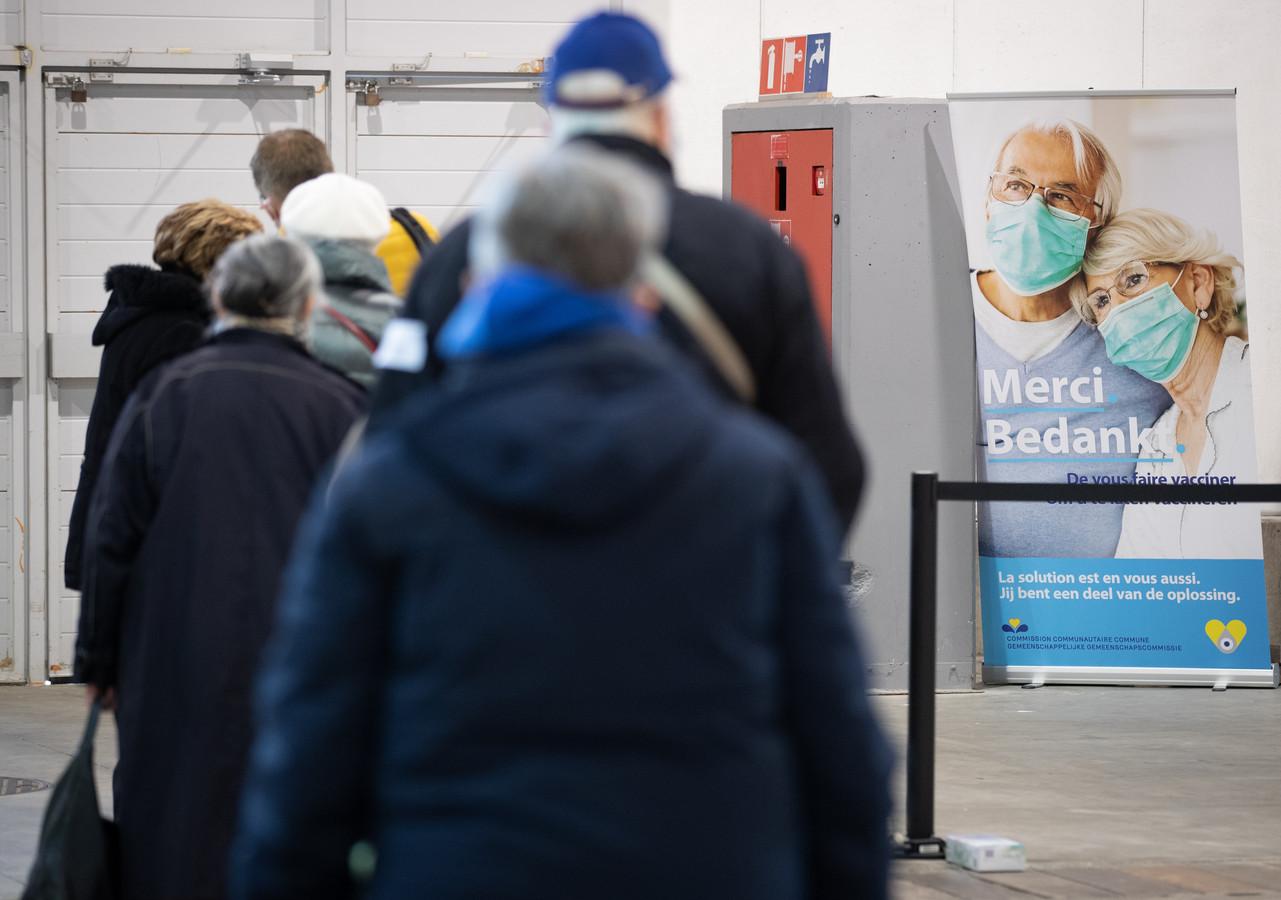 Het vaccinatiecentrum op de Heizel in Brussel.