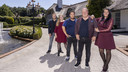De familie Gillis: Ruud, Inge, Mark, Peter en Nicol (Vlnr)
