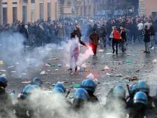 Weer foto's op tv van verdachten rellen Rome