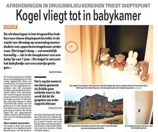 De schietpartij in Schilde was groot nieuws in deze krant gisteren.