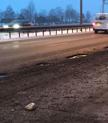 A59 richting Den Bosch tijdelijk afgesloten voor herstel vorstschade