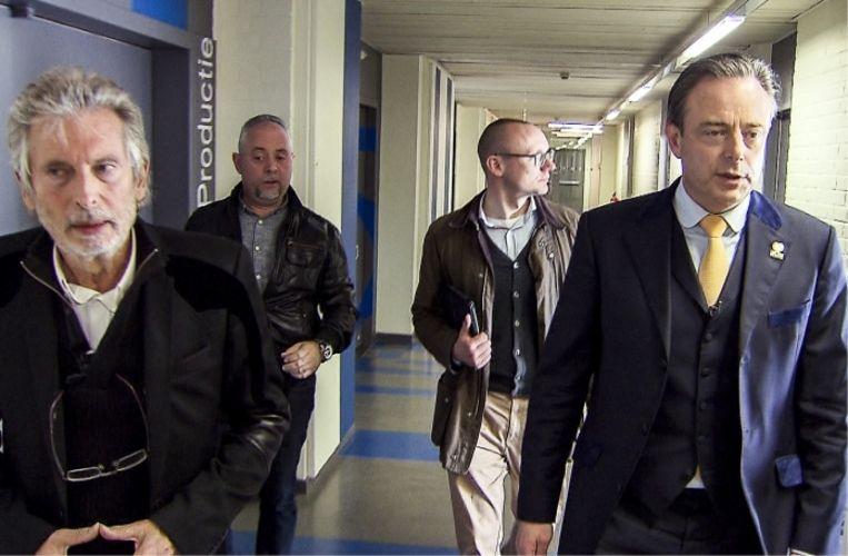 'Als historicus is Bart De Wever ervan overtuigd dat wat hij doet gedocumenteerd moet worden. Ik denk dat ik hem mag volgen omdat hij een naslagwerk wil.'   Beeld rv