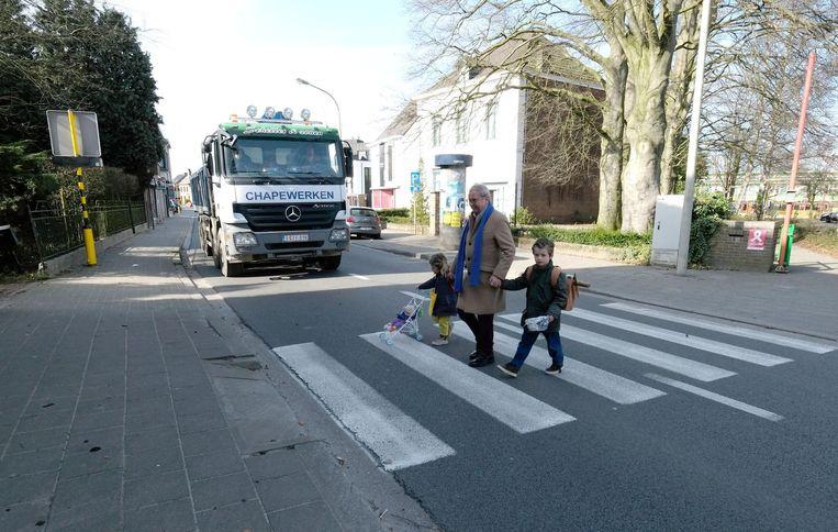 René van Goubergen (Open VLD) brengt geregeld zijn kleinkinderen naar school.