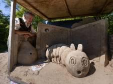 Oorlogstaferelen in zand maken in het Kuinderbos plaats voor kinderboeken: 'Dit spreekt iedereen aan'