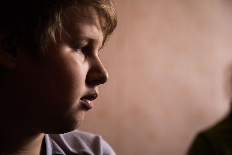 Nikita, het broertje van het gehandicapte meisje Nastya. Beeld ©Bernd Fink/The Caravan's Journal