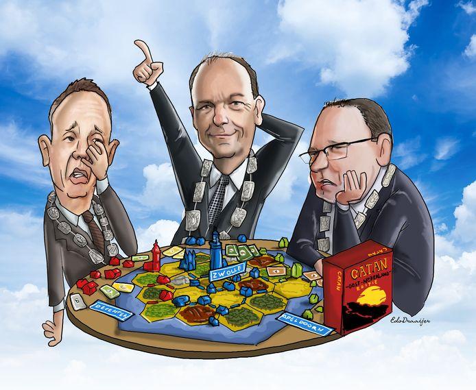 De burgemeesters van Deventer, Apeldoorn en Zwolle denken dat hun gemeenten flink kunnen groeien.