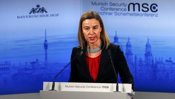 De Europese buitenlandchef Federica Mogherini.