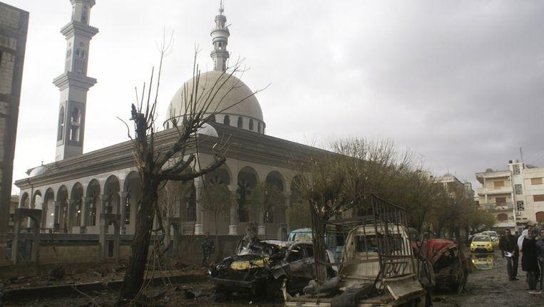Een moskee in Homs. Beeld reuters