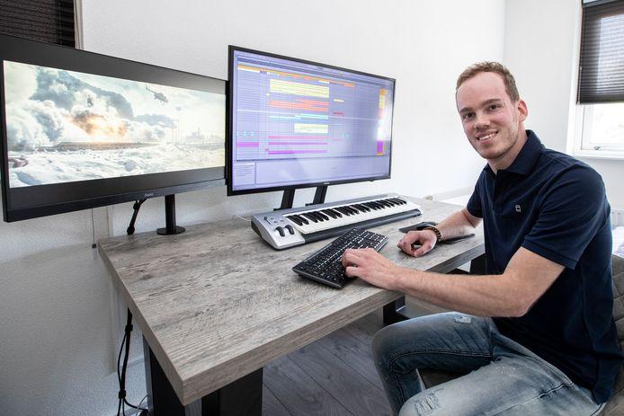 Hoe kan een doorsnee logeerkamer in een nieuwbouwwoning in Vroomshoop bijzonder zijn? Omdat het tevens de studio is waar Stefan Bosch muziek componeert voor wereldberoemde filmtrailers.
