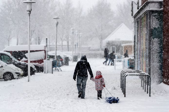 Sneeuw in Doetinchem.