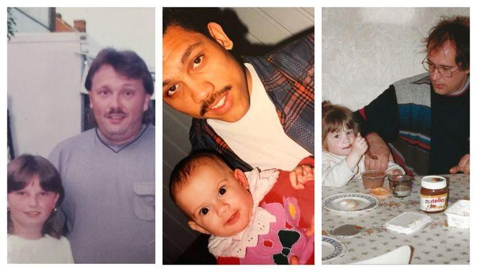 Van links naar rechts: Sarah (32), Giannina (30) en Davina (28) met hun papa.