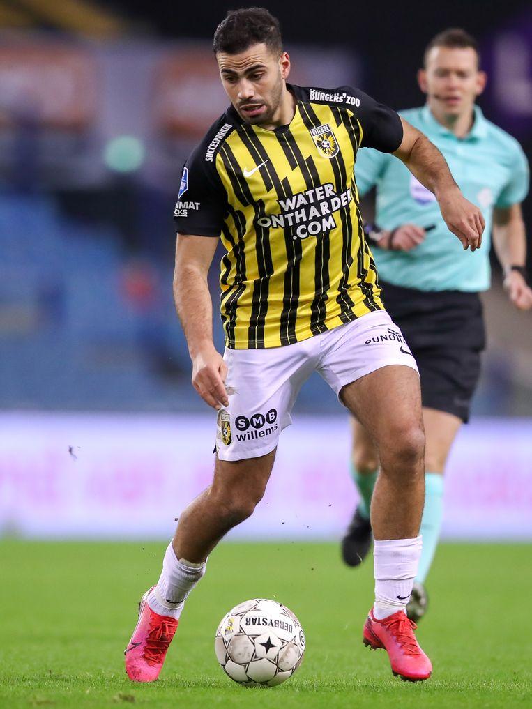Oussama Tannane (Vitesse) tijdens de wedstrijd tegen SC Heerenveen. Beeld Orange Pictures