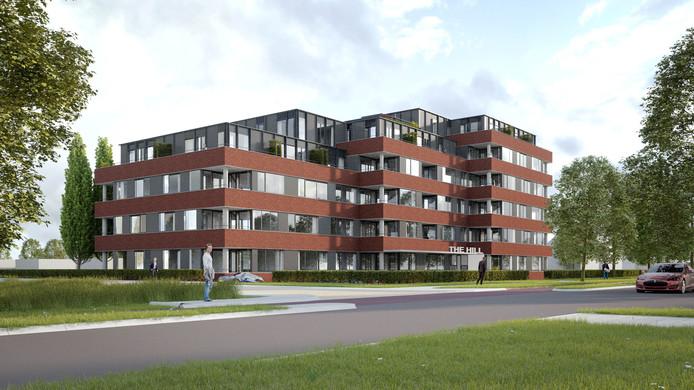 De voormalige Rabobank aan de Helftheuvelweg biedt staks plaats aan 82 appartementen.