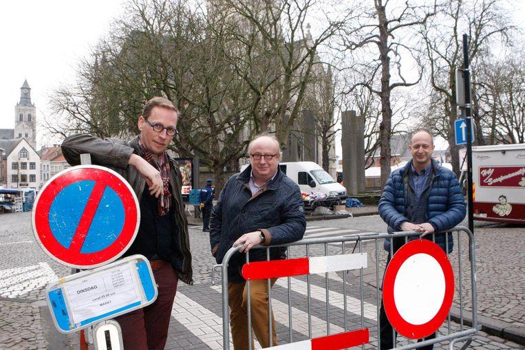 Bart Debbaut, Carlo Declercq en Steven Dusart van handelsvereniging Kwixx.