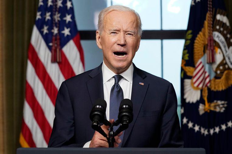 Joe Biden maakt officieel bekend dat de VS Afghanistan verlaat. Beeld Getty Images