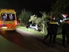 Automobilist (20) raakt van de weg en klapt op boom in Lunteren