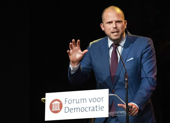 Theo Francken a brièvement pris la parole au congrès de Forum pour la démocratie, le partie populiste néerlandais
