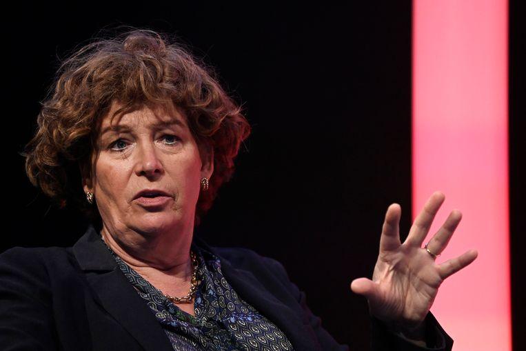 Groen-vicepremier Petra De Sutter hield zich de voorbije weken opvallend rustig bij de onderhandelingen. Beeld Photo News