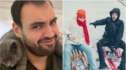 SNOWBITS. Kamal Kharmach heeft een bijzondere sjaal en MNM-dj's amuseren zich in de sneeuw