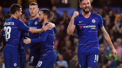 Chelsea heeft in tweede helft nog last met Slavia Praag, maar Hazard en co laten kwalificatie niet meer ontglippen
