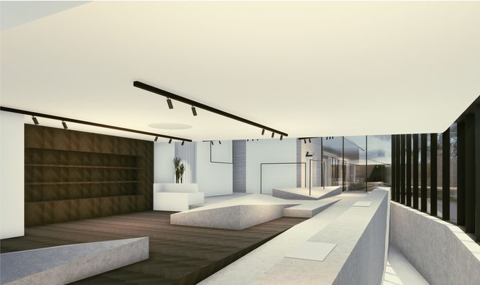 Simulatiebeeld van het nieuwe project.