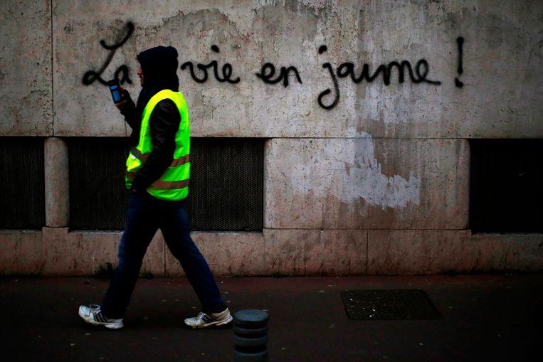 """""""La vie en jaune."""" Beeld AFP"""