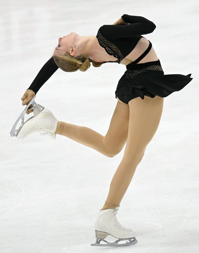 Lindsay van Zundert in actie tijdens de Finlandia Trophy in Espoo.
