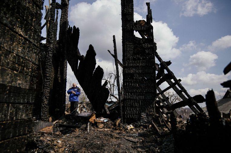 Foto ter illustratie, een OVSE-waarnemer in Oekraïne Beeld AFP