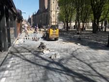 Bossche Parade is nog even een zandbak;  terrassen voor zaterdag klaar