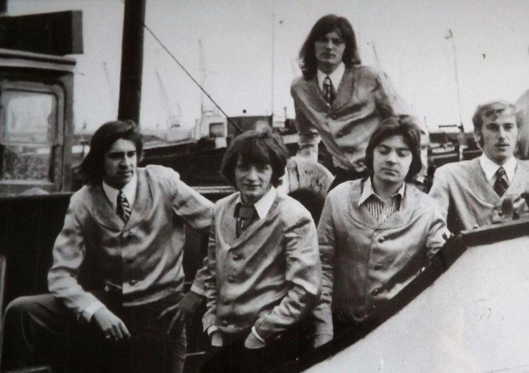 De Midnight Group in de jaren 70. V.l.n.r.: Frank Collier, Jan Baeyens, André Verbeeck, René Van Aerschot en Luc Wandelaer.