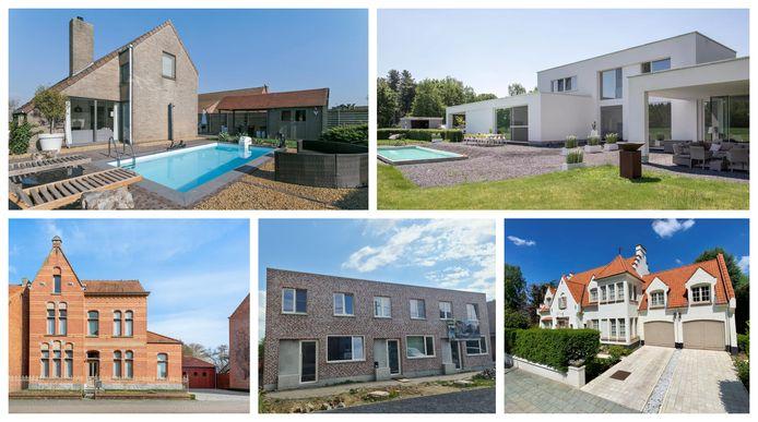 Huizen met zwembad.