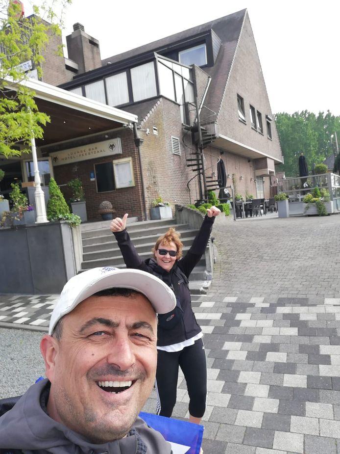 Jo en Ellen bereikten omstreeks 17.30 uur hun slaapplaats in Affligem.