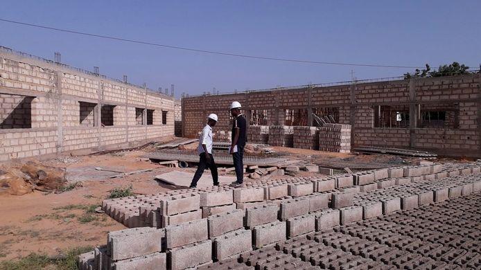 De bouw van het kinderkankerziekenhuis