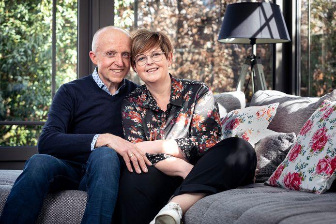Kim De Backer en haar man Hans Heylen.