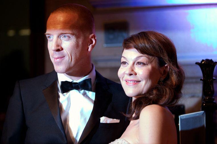 Damian Lewis en Helen McCrory tijdens een gala van de British Film Institute.  Beeld Hollandse Hoogte / AFP