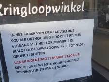 Kringloopwinkel Vincentius in Den Bosch dicht vanwege coronavirus