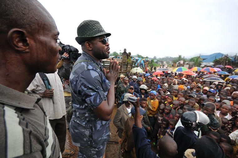 Ntabo Ntaberi in 2011. De Congolese krijgsheer is schuldig bevonden aan onder meer massamoord en massaverkrachting.   Beeld Hollandse Hoogte / AFP