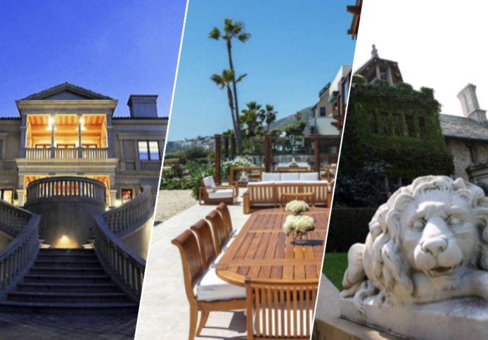 De duurste huizen van Hollywood.