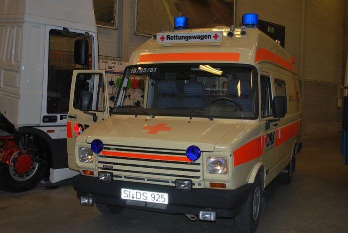 De Duitse DAF-ambulance.
