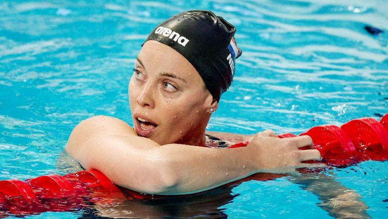 Femke Heemskerk in actie op de finale van de 200 meter vrije slag op het WK zwemmen. Beeld ANP