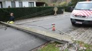 Hele rij elektriciteitspalen in Stuurstraat gesneuveld door stormwind