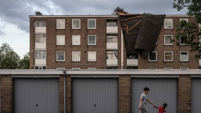 Nasleep storm: bewoners van Tielse flat waar dak van afwaaide slapen week lang niet thuis
