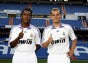 Met Royston Drenthe bij hun gezamenlijke presentatie bij Real Madrid op 13 augustus 2007.
