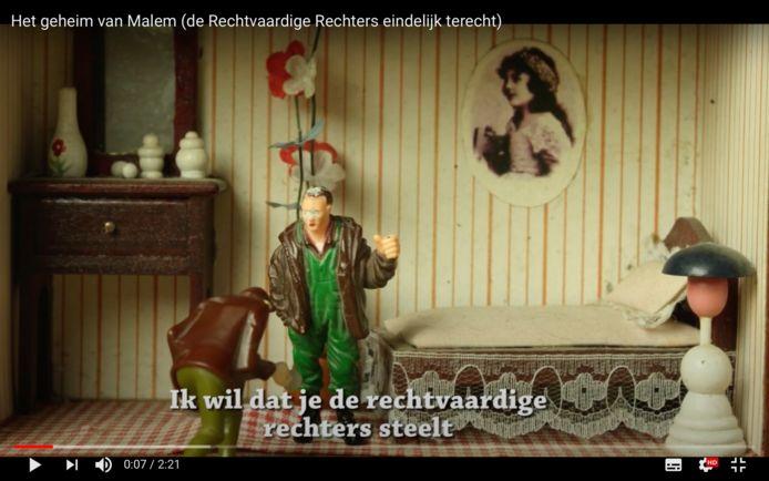 Screenshot uit het winnend filmpje.