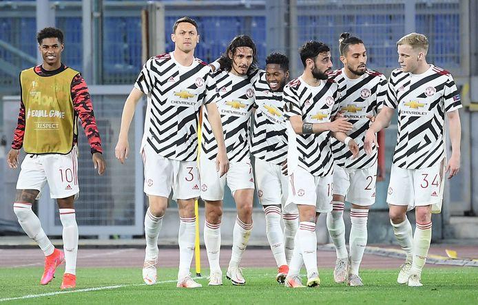 Feest bij de Mancunians in Rome na het bereiken van de finale van de Europa League.